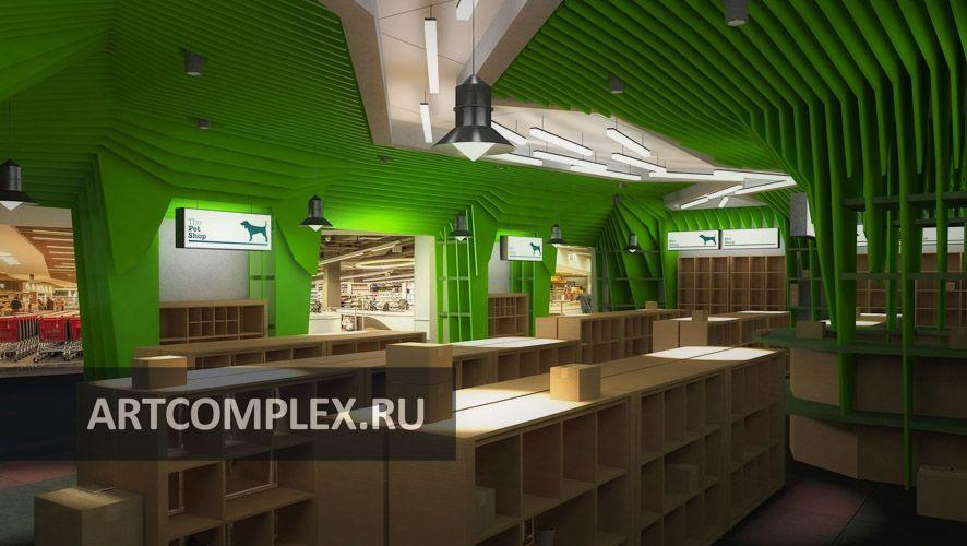 Архитектурный проект интерьеров магазина