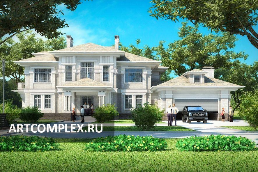 Архитектурный проект дома в английском стиле