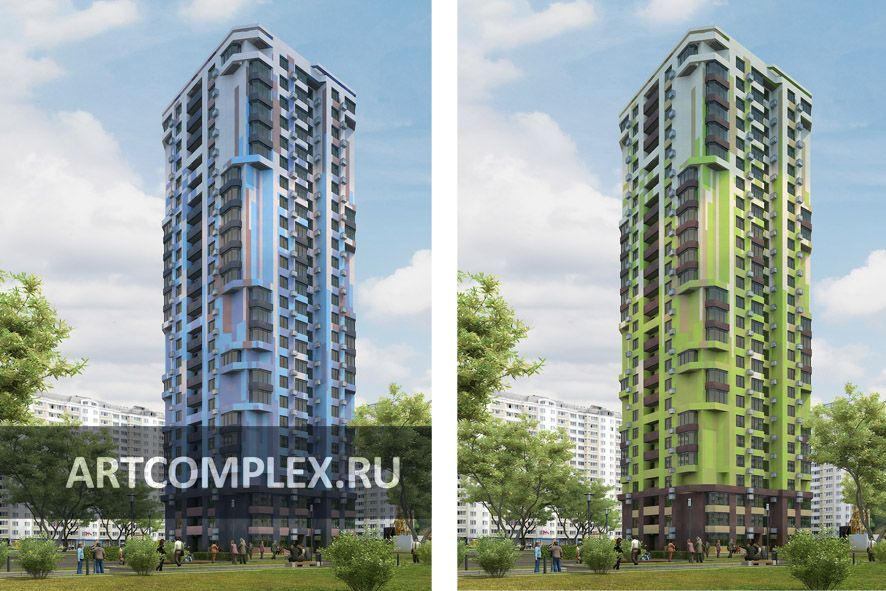 Архитектурный проект дома башни