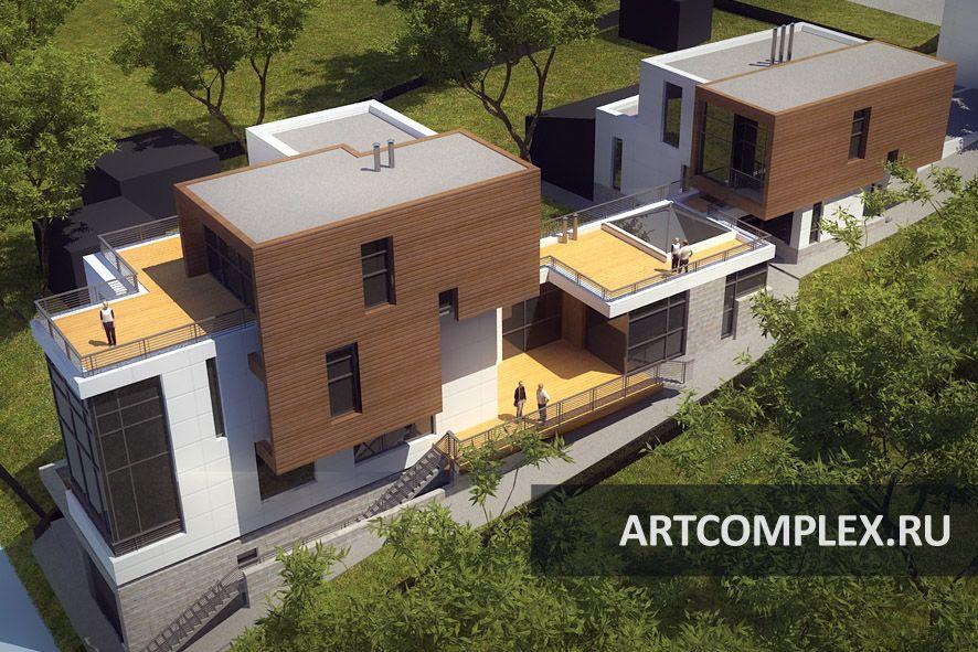 Архитектурный проект дома в стиле минимализм