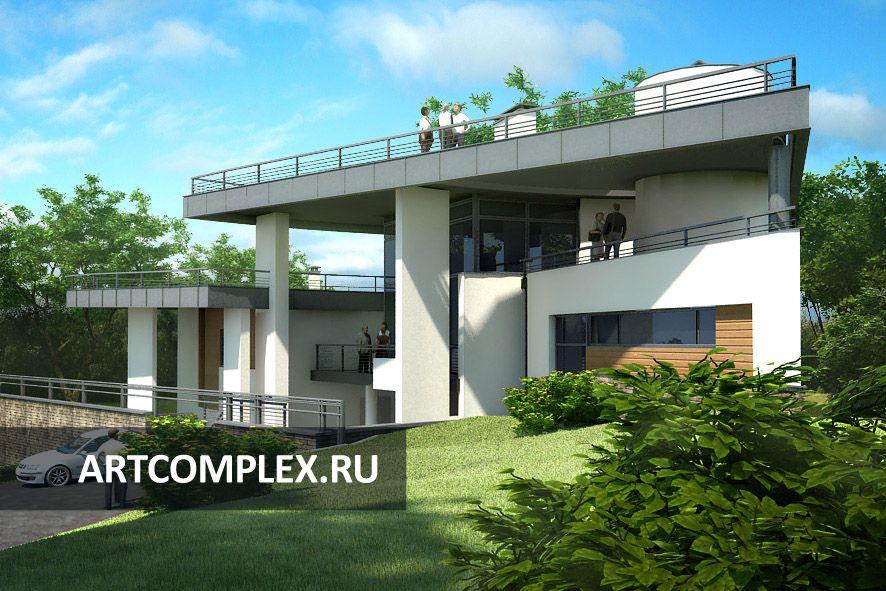 Архитектурный проект дома на 3 семьи