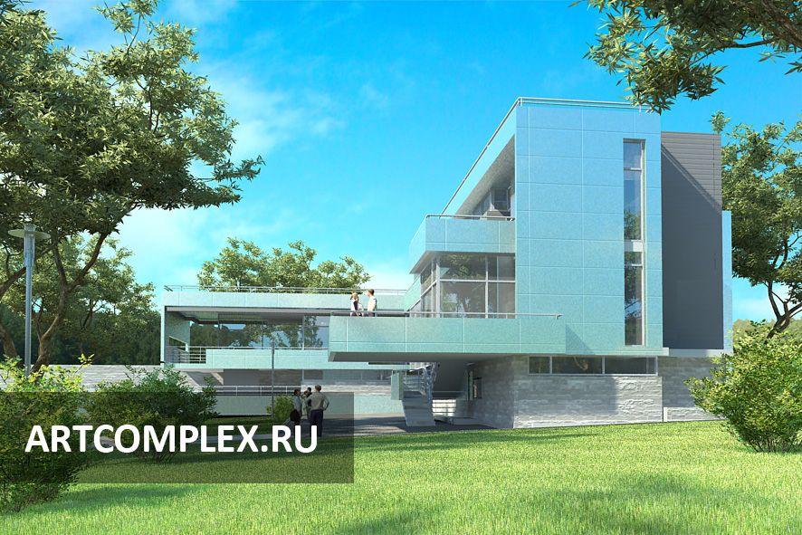 Архитектурный проект дома в стиле хайтек