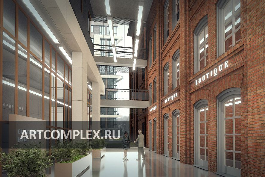 Архитектурный проект интерьеров бизнес центра