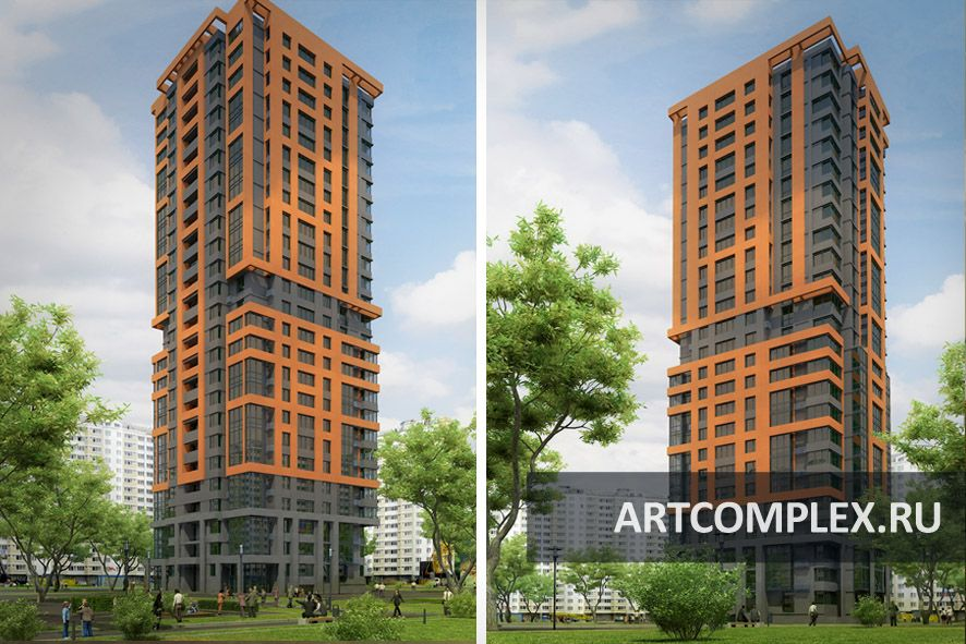 Архитектурный проект многоэтажного дома