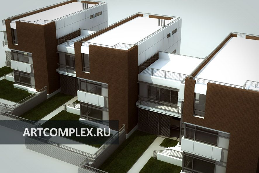 Архитектурный проект таунхауса